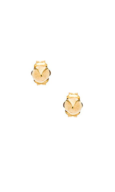 Stella and Bow Stud Earrings in Gold