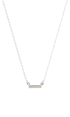 Stella and Bow Bar Necklace in Silver