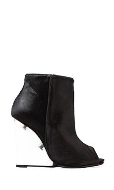 Schutz Briann Bootie with Calf Fur in Black
