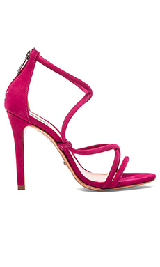 Schutz Brazilian Heel in Rose Red