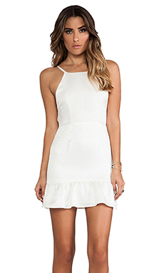 STONE_COLD_FOX Pistol Dress in White