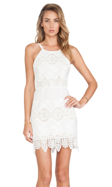 STONE_COLD_FOX Georgia Dress in White