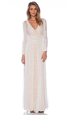 STONE_COLD_FOX Vermont Gown in White