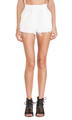 STONE_COLD_FOX Florida Short in Textured White