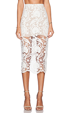 STONE_COLD_FOX Elliot Skirt in White