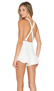 STONE_COLD_FOX Noah Romper in White