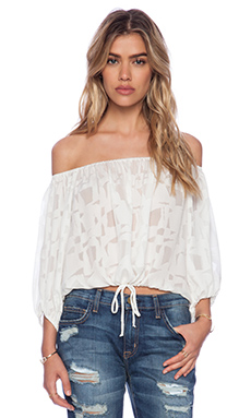 STONE_COLD_FOX Blanca Blouse in White