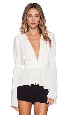STONE_COLD_FOX Patrick Blouse in White