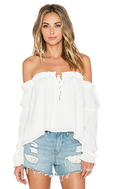 STONE_COLD_FOX Nate Blouse in White