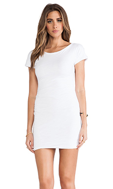 SUNDRY Boat Neck Dress in White