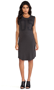 SUNDRY Five Muscle Dress in Old Black