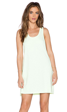 SUNDRY Tank Swing Dress in Neon Citron