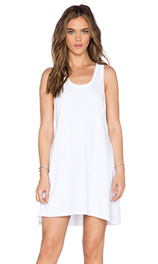 SUNDRY Tank Swing Dress in White
