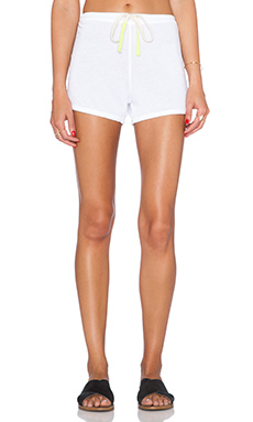 SUNDRY Drawstring Short in White
