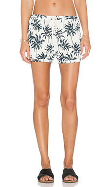 SUNDRY Palm Tree Short in White