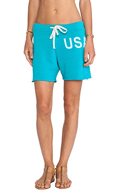 SUNDRY USA Sweatshort in Teal
