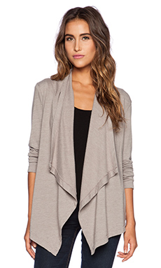 SUNDRY Open Cardigan in Mink