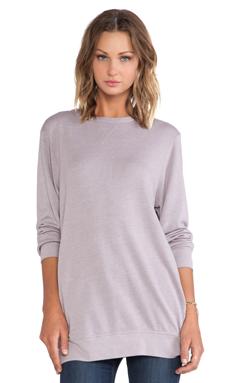SUNDRY Long Pocket Sweatshirt in Warm Grey