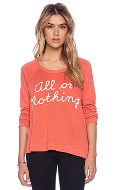 SUNDRY All Or Nothing Cropped Pullover in Dahla