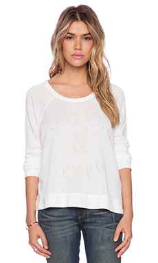 SUNDRY Ever Cropped Pullover in White