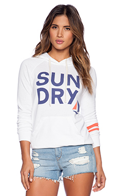 SUNDRY Pullover Hoodie in White
