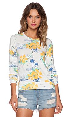 SUNDRY Tropical Basic Sweatshirt in White