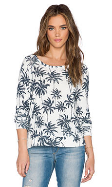 SUNDRY Palm Tree Crop Sweatshirt in White