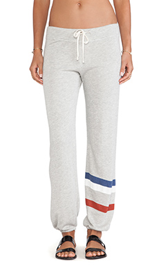 SUNDRY Stripes Classic Sweatpant in Heather Grey