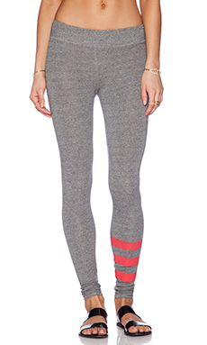 SUNDRY Striped Yoga Legging in Heather Grey