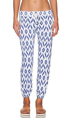 SUNDRY Patterned Classic Sweatpant in White