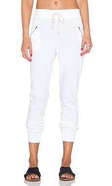 SUNDRY Zipper Sweatpant in White