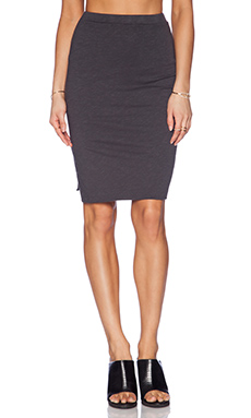 SUNDRY Mid Length Skirt in Black