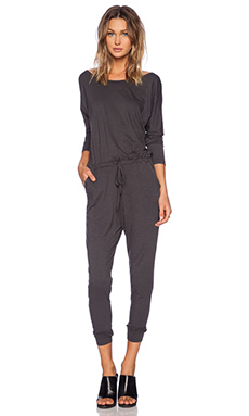 SUNDRY Long Sleeve Jumpsuit in Black