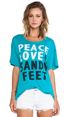 SUNDRY Peace Loose Tee in Teal