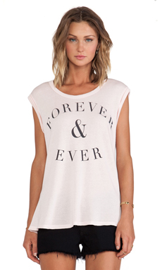 SUNDRY Forever Sleeveless Tee in Petal