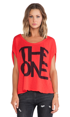 SUNDRY The One Butterfly Tee in Fire