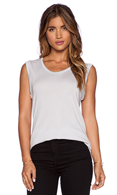 SUNDRY Sleeveless Tank in Pearl