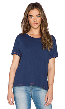 SUNDRY Loose Crew Tee in Deep Sea