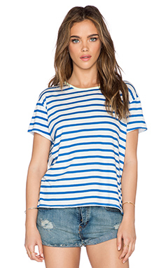 SUNDRY Stripe Tee in Blue