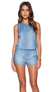 Seafolly Detention Romper in Chambray