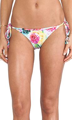 Seafolly Geisha Brazilian Tie Side Bikini Bottom in Dahlia