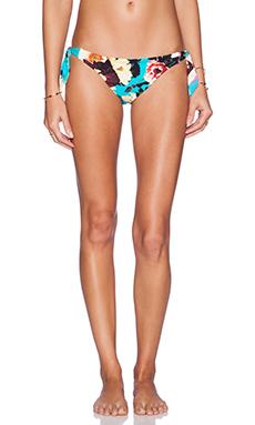 Seafolly Kabuki Bloom Sweetheart Side Tie Bikini Bottom in Seychelles