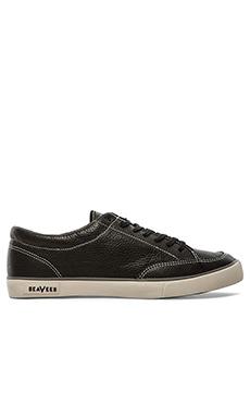 SeaVees 05/65 Westwood Tennis Shoe in Noir Vintage Leather