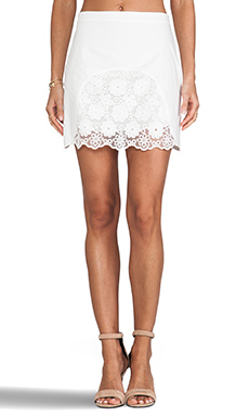 See By Chloe Floral Lace Skirt in Cream
