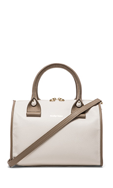 See By Chloe April Small Duffel in White/Taupe