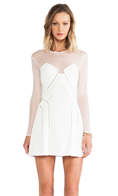self-portrait White Night A-Line Dress in White
