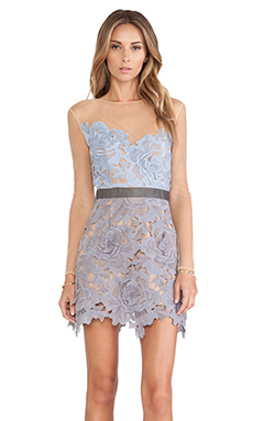 self-portrait Harmony Lace Dress in Blue