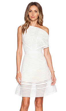self-portrait Off Shoulder Flare Dress in White
