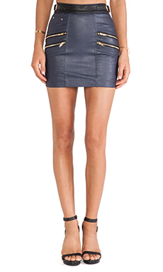 self-portrait Signature Biker Skirt