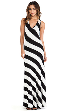 sen Hudson Dress in Black & White Stripe